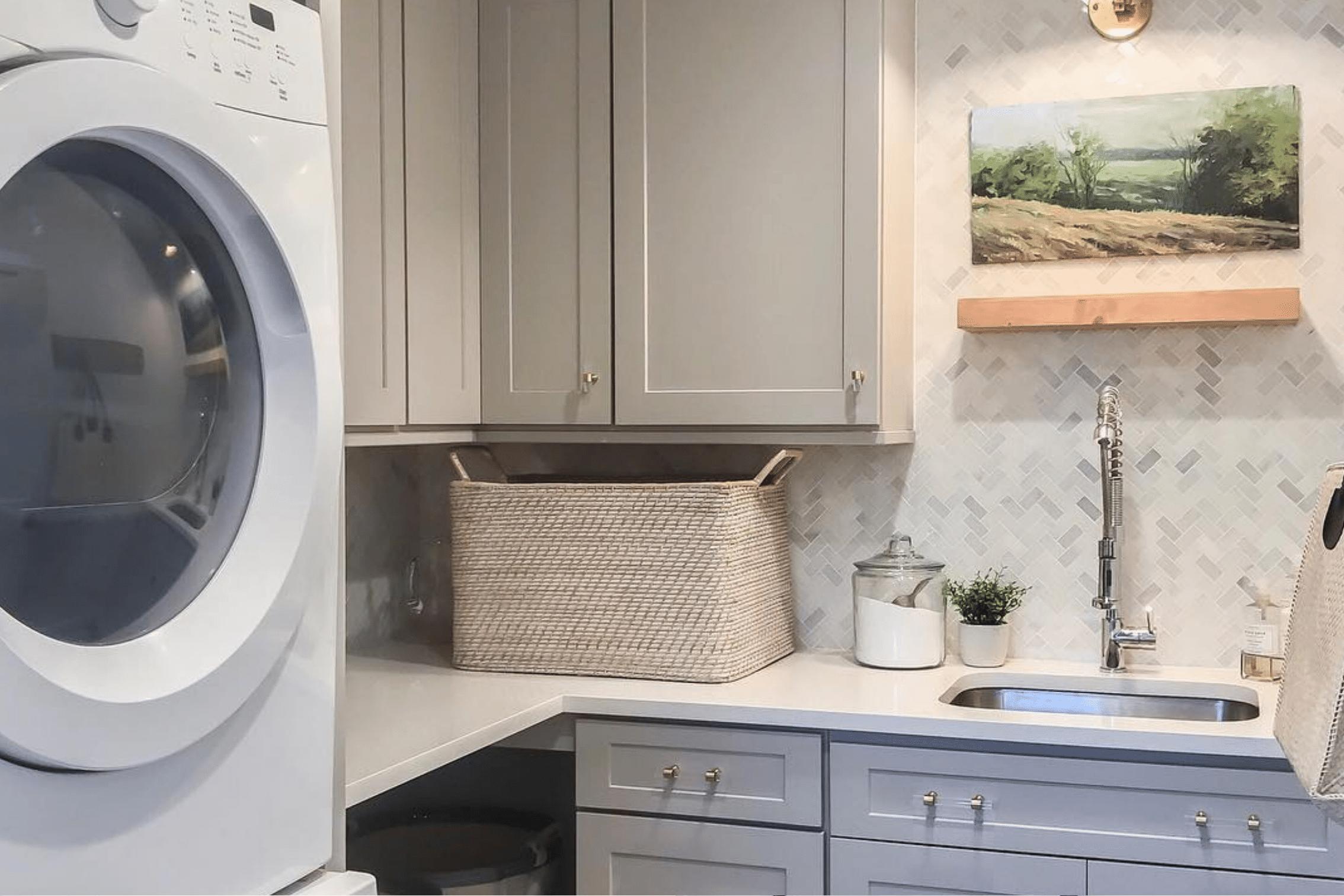 Washroom Sink and Laundry