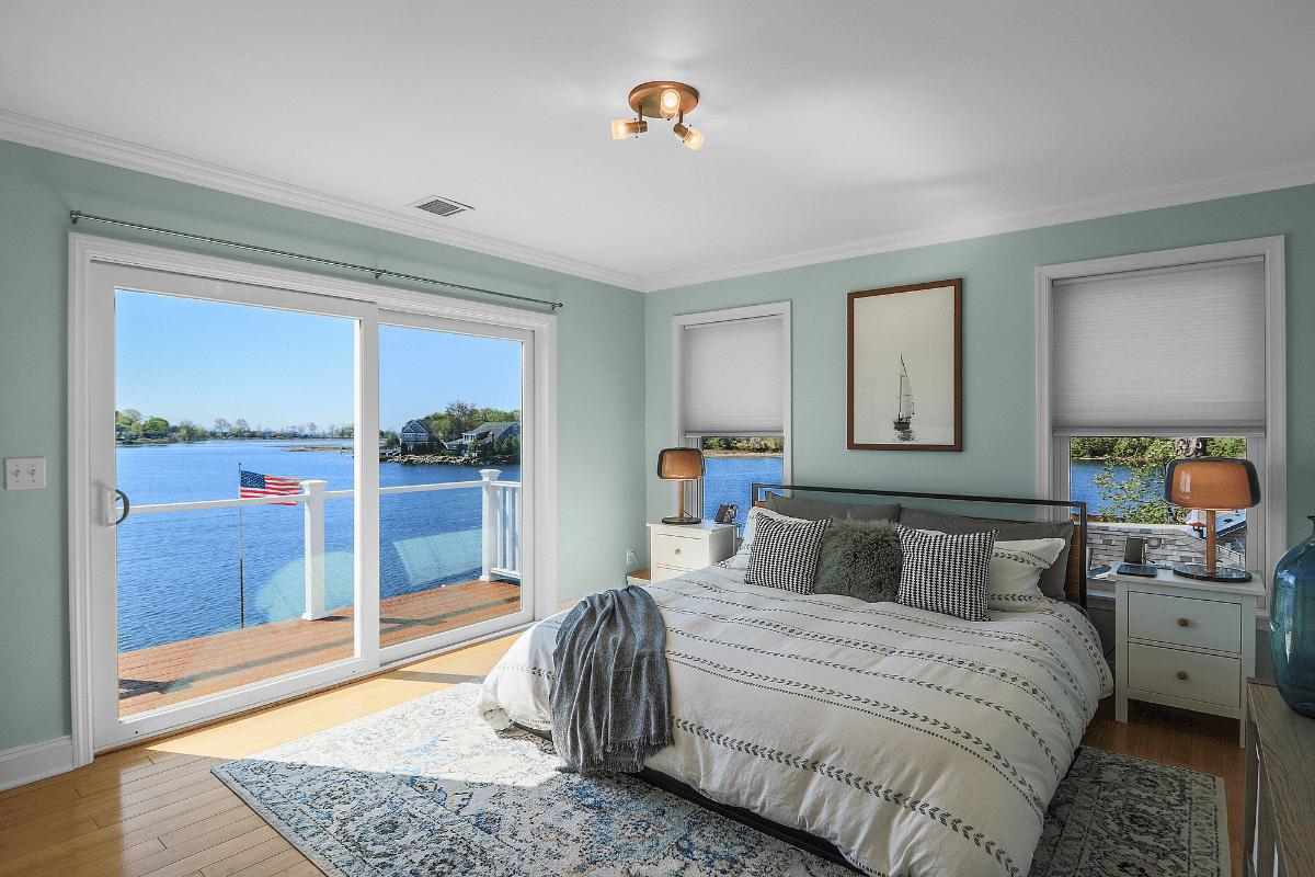 Bedroom Overlooking Water in Fairfield CT