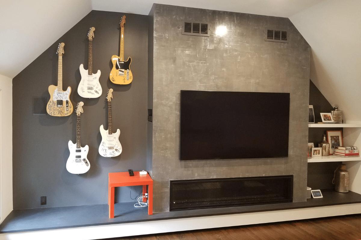 Guitar Hanging in CT Remodel